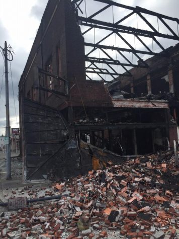 100 year-old building burns