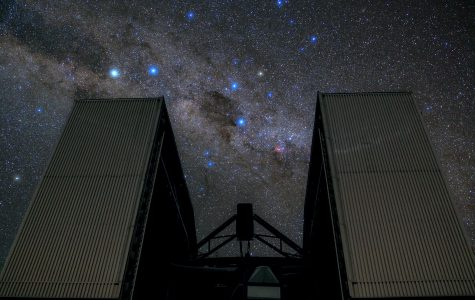 Rising up to block part of the star-studded sky, the New Technology Telescope (NTT) cuts a striking and dramatic figure in this ESO Picture of the Week. Located at ESO's La Silla Observatory in the Chilean Atacama Desert, the NTT was inaugurated in 1989. It was the first ever telescope to have a computer-controlled main mirror. This 3.58-metre mirror is very flexible and its shape can be continuously changed, allowing astronomers to counteract deformations due to external influences such as wind, temperature and mechanical stress mid-observation in order to see the objects as clearly as possible. Complementing the NTT's groundbreaking technology is the innovative design of its housing. Its octagonal dome is relatively small and includes a series of flaps that ventilate the structure with reduced turbulence, allowing air to flow smoothly across the mirror. The dome walls can be opened entirely — as opposed to only opening the roof, as with conventional domes — to reveal large swathes of the southern sky. This image was taken by ESO Photo Ambassador Babak Tafreshi.