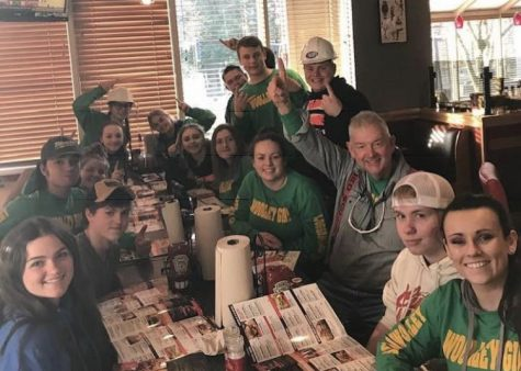 The 2018-2019 SWHS Logger Rodeo team celebrates yet another first place victory. Naturally the team grabbed a bite to eat after their hard work. Courtesy of Dylan Carpenter.