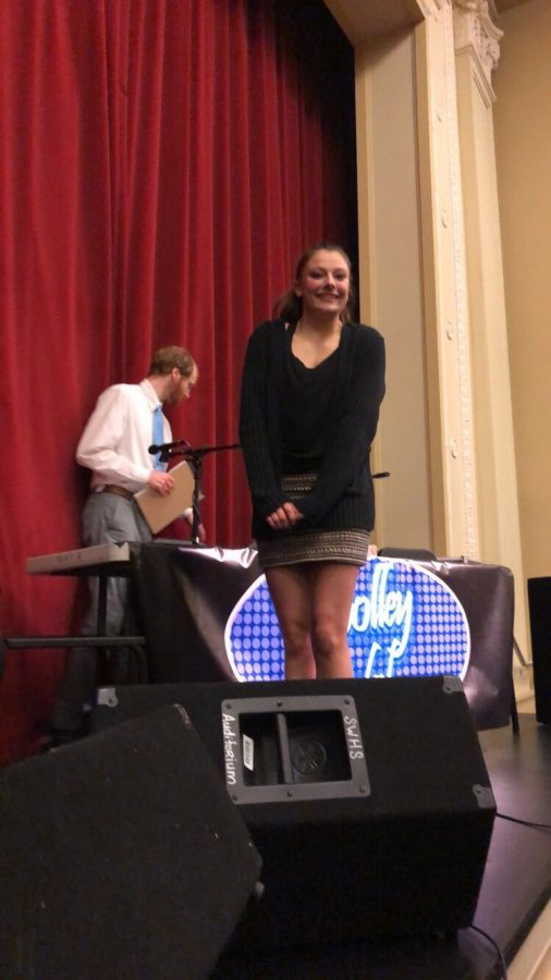 Lilly Rice was all smiles while performing in front of her peers on the first of the month. Photo by Shawnee Sydnes.