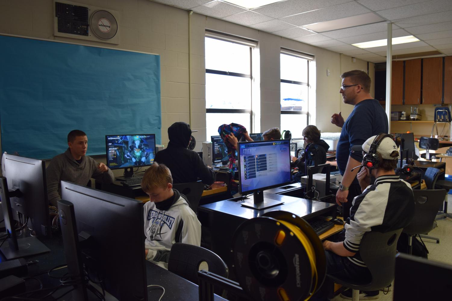 Esports coach Zack Pope offers advice to students who compete in a plethora of online games. The club has become increasingly popular in it's few short years at SWHS.
