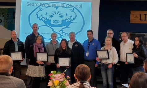 Sedro-Woolley High School's Code Blue Team recived awards after their response to aiding a fellow staff member who had gone into  cardiac arrest. Courtesy of The City of Sedro-Woolley's Facebook Page.