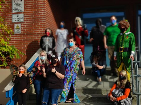 SWHS staff dress up for Halloween the weekend before Halloween on Friday, Oct. 30, 2020.