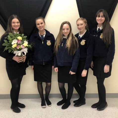 SWHS Floriculture girls traveled about 300 miles to show off their skills. Courtesy of Shauna Flores.