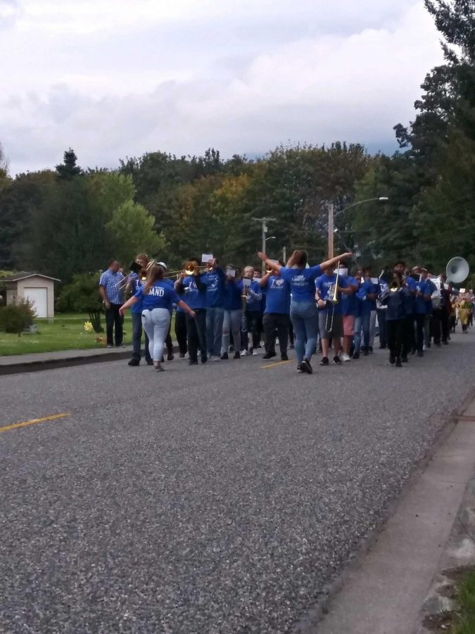 The parade marched down the streets of Lyman ringing in the new school year.